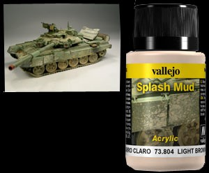 Vallejo Weathering Effects Splash Mud Light Brown 40 ml