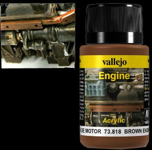 Vallejo Weathering Effects Engine Effect Brown Engine Soot