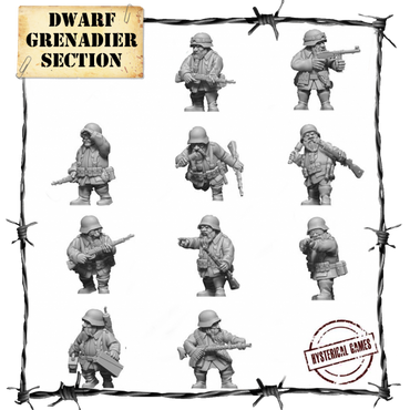 Dwarf Grenadier Section (10 pcs.) - Panzerfäuste