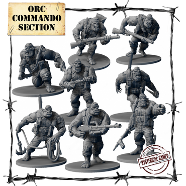 Orc Commando Section (8 pcs.) - Panzerfäuste
