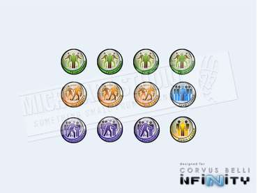 Infinity Token Set Fireteams (12 Pcs.)