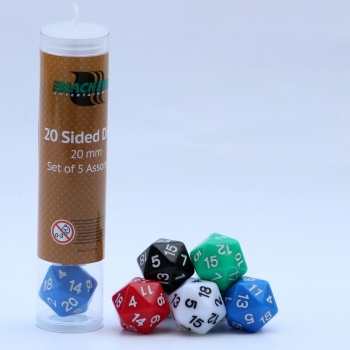 D20 Blackfire Dice (5) - Assorted