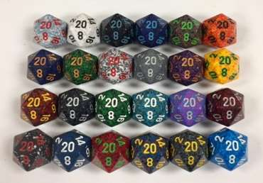 D20 Chessex Speckled Dice (1) Random Color