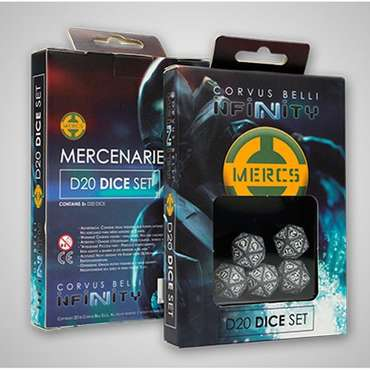 Mercenaries D20 Dice Set / Würfel Set (5 Stk.)