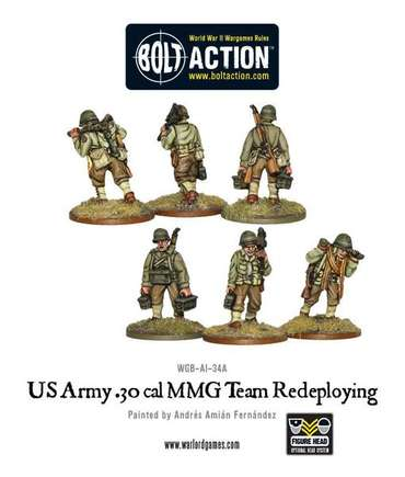 US Army 30 Cal MMG Team redeploying - Bolt Action