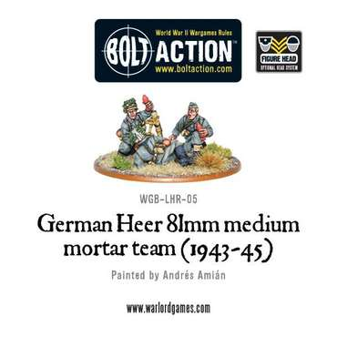 German Heer 81mm Medium Mortar - Bolt Action