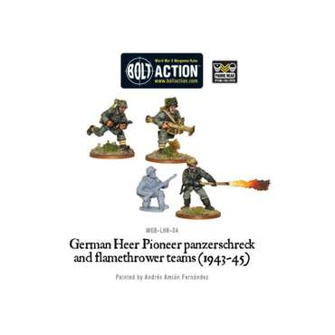 German Army Panzerschreck & Flamethrower (4) - Bolt Action
