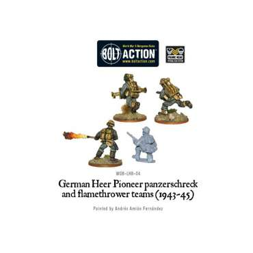 German Army Panzerschreck & Flamethrower (4) - Bolt Action – Bild 2