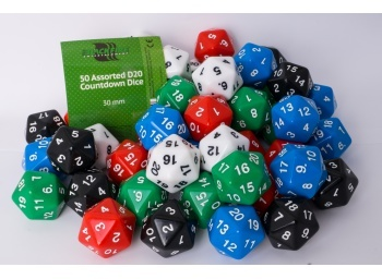 D20 Dice big (white)