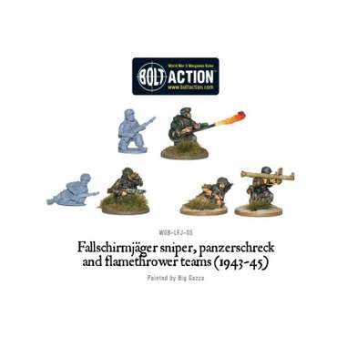 Fallschirmjäger Sniper, Panzerschreck & Flamethrower - Bolt Action