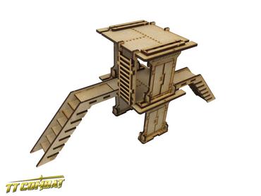Industrial Small Platform Set B – Industrial Hive Scenics