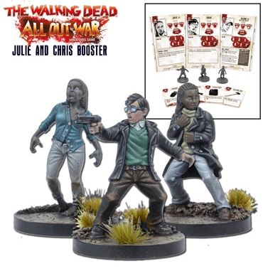 Julie & Chris Miniatures Booster - The Walking Dead Miniatures Game