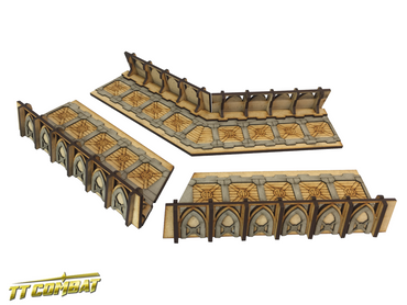 Fortified Trench Large Corner Sections – Sci-Fi Gothic Scenics