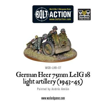 German Heer 75mm LEiG 18 Light Artillery - Bolt Action