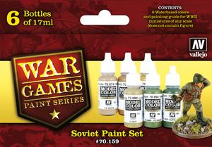 WWII Wargames Paint Series - Soviet Paint Set