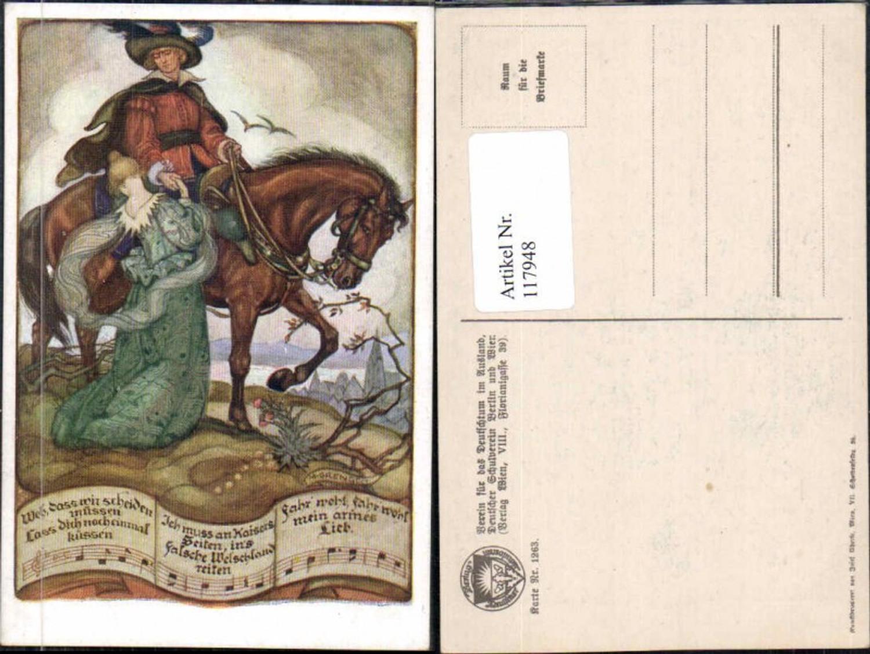 117948,Dt. Schulverein 1263 M. Grengg Pferd Mann Hut  günstig online kaufen
