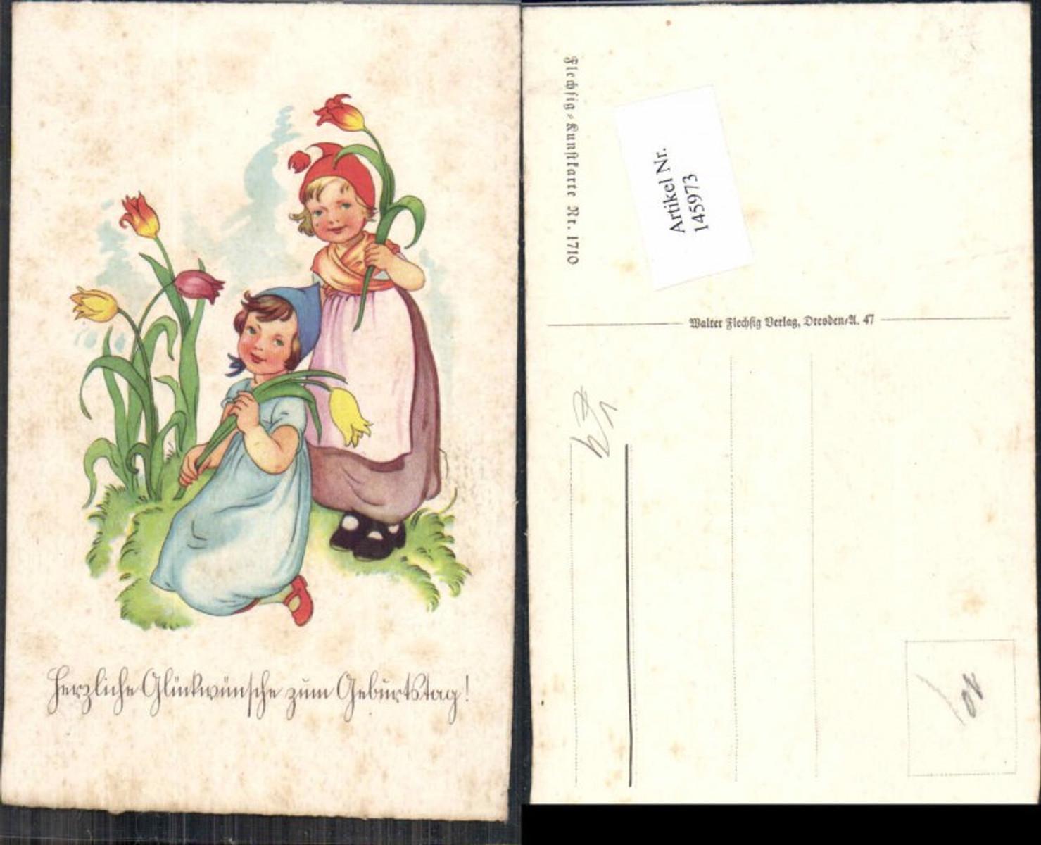 145973,Fleschig AK Nr 1710  Kinder Tulpen  günstig online kaufen
