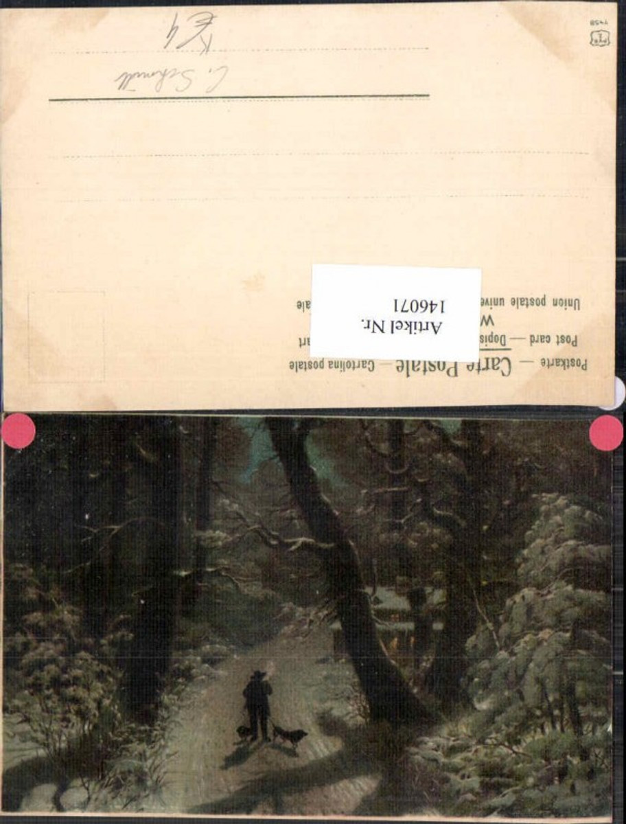 146071,C. Schhmidt Jagd Jäger im Wald  günstig online kaufen