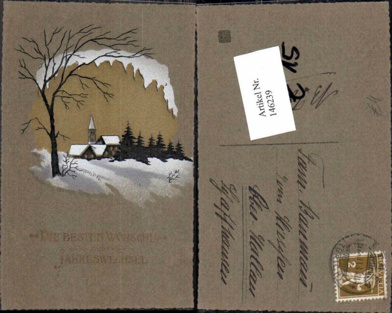 146239;Neujahr Kirche Winterlandschaft  günstig online kaufen