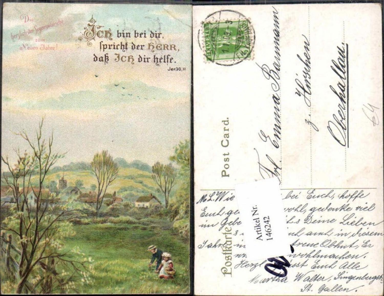 146242;Neujahr Landschaft KInder 1900 günstig online kaufen