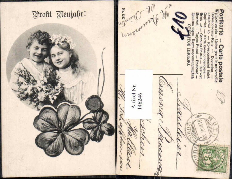 146246;Neujahr Klee Kleeblätter Kinder  günstig online kaufen