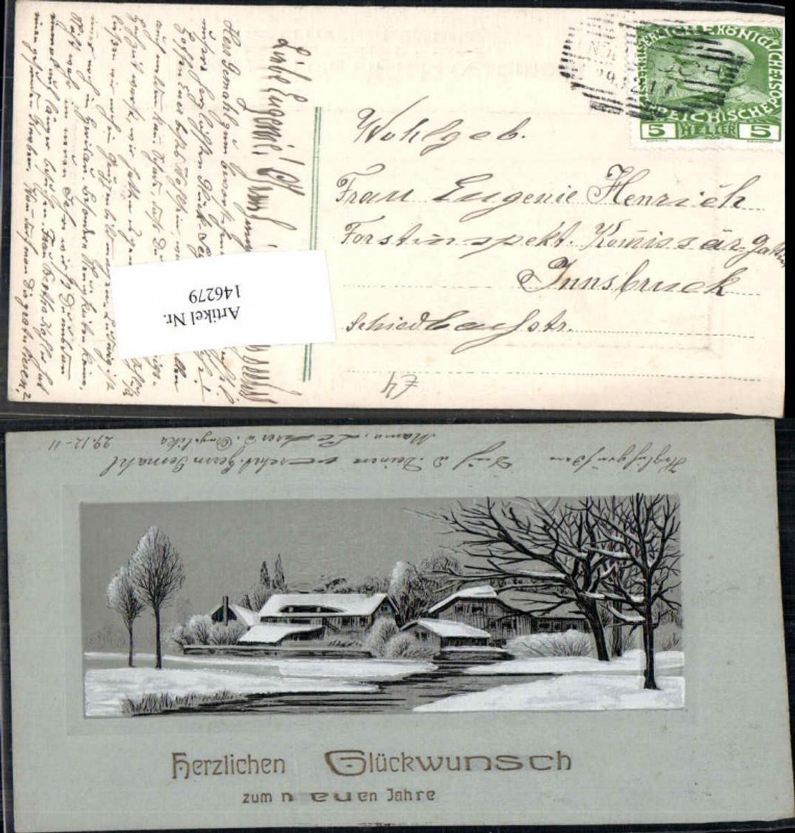 146279;Neujahr Landschaft Häuser  günstig online kaufen