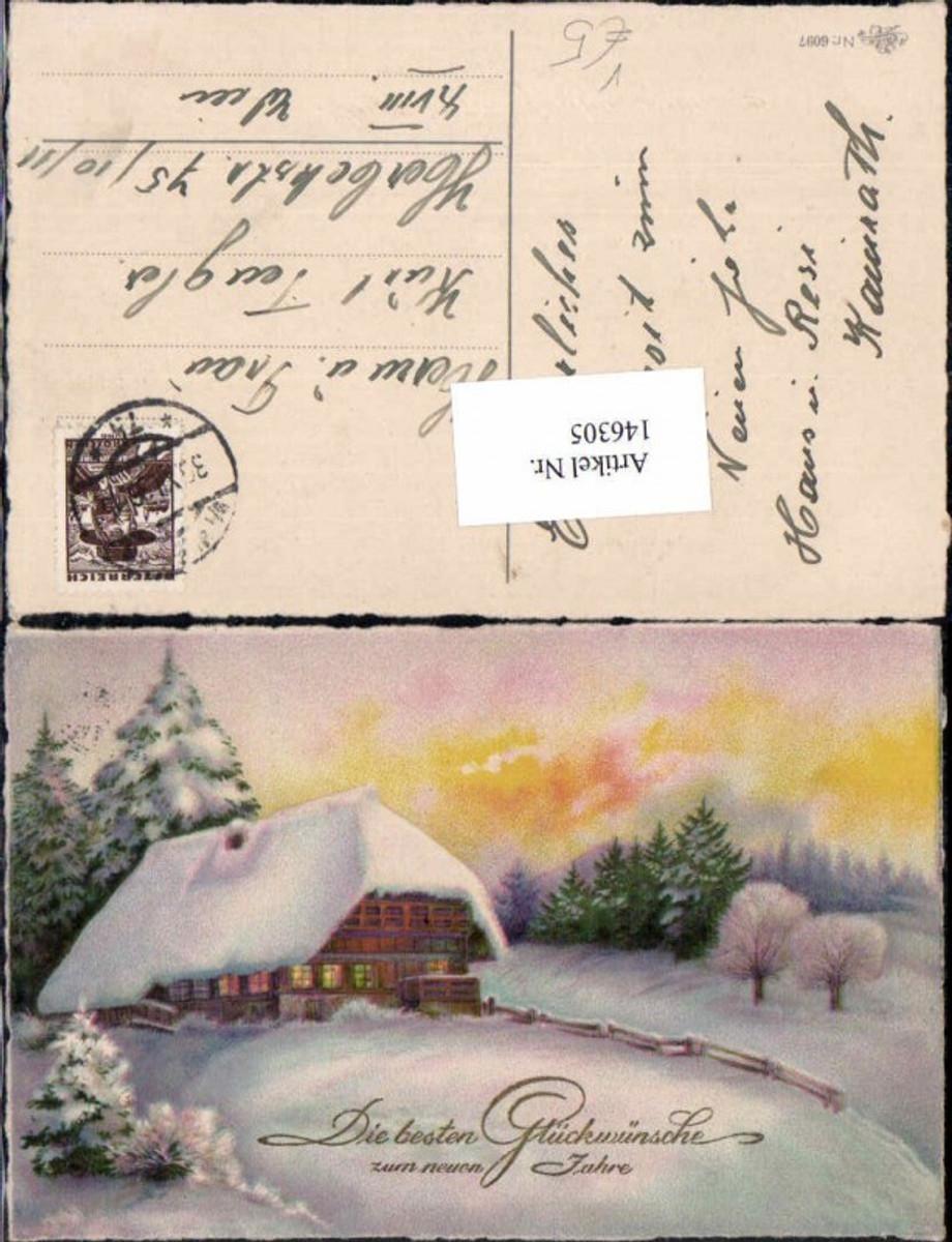 146305;Neujahr Erika 6097 Haus im Wald verschneite Landschaft  günstig online kaufen