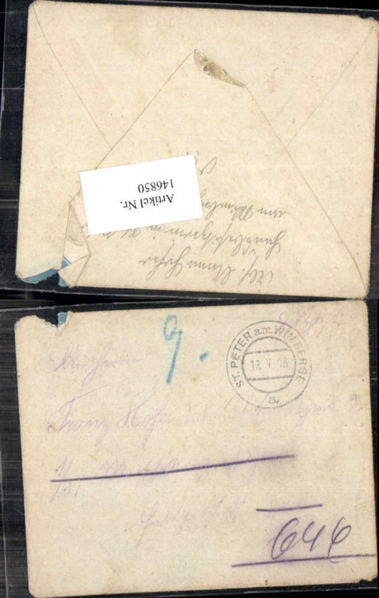146850,K.K. Feldpost Franz Hofer St Peter am Wimberge Schützen Reg. 2 m. Inhalt 18.5.1918 günstig online kaufen