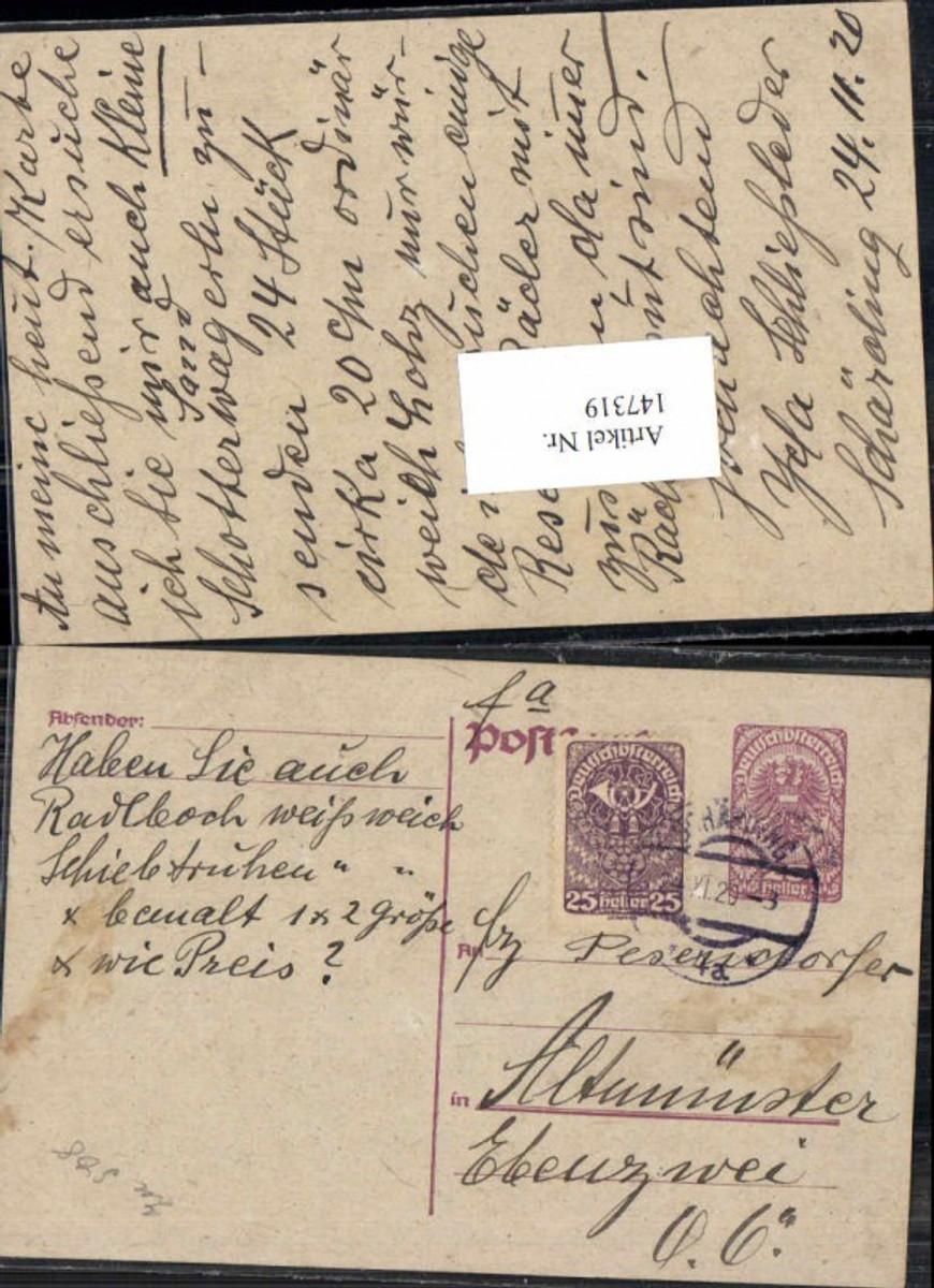 147319,Postkarte Geschäftskarte Schärding n. Altmünster  günstig online kaufen