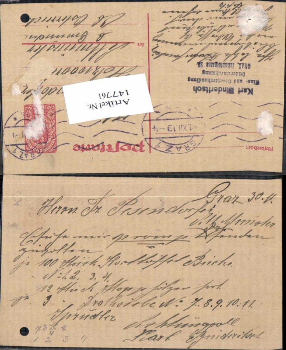 147761,Graz nach Altmünster Postkarte 1919 günstig online kaufen