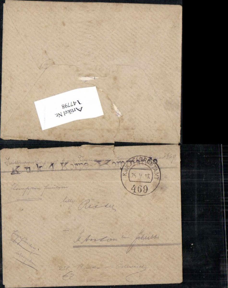 147798,K. K. Feldpost 469 K.K. Korps Kommando  günstig online kaufen