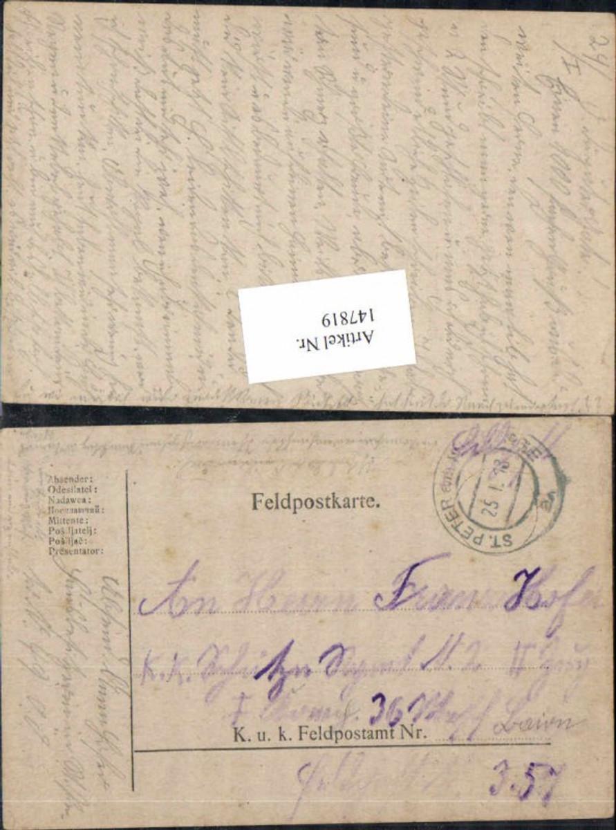 147819,K. K. Feldpost St Peter am Wimberge 1918 Franz Hofer günstig online kaufen