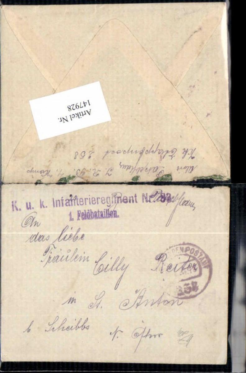 147928,K. K. Feldpost Etappenpostamt 258 Infanterie Reg. 93  günstig online kaufen