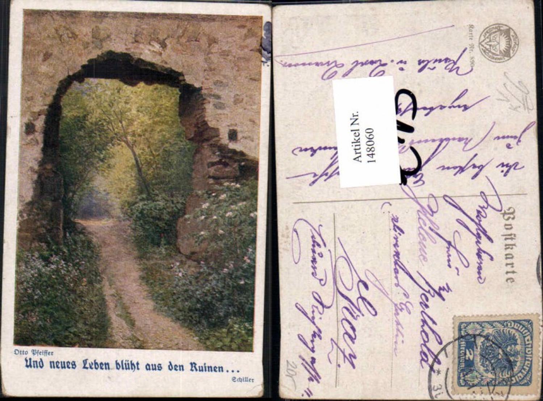 148060,Dt Schulverein 890 Otto Pfeiffer Schiller Spruch günstig online kaufen