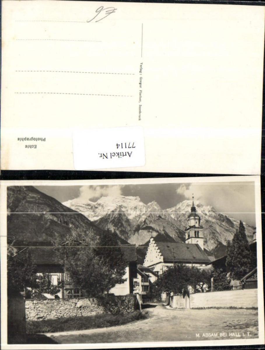 77114,Maria Absam bei Hall Strassenansicht mit Kirche  günstig online kaufen