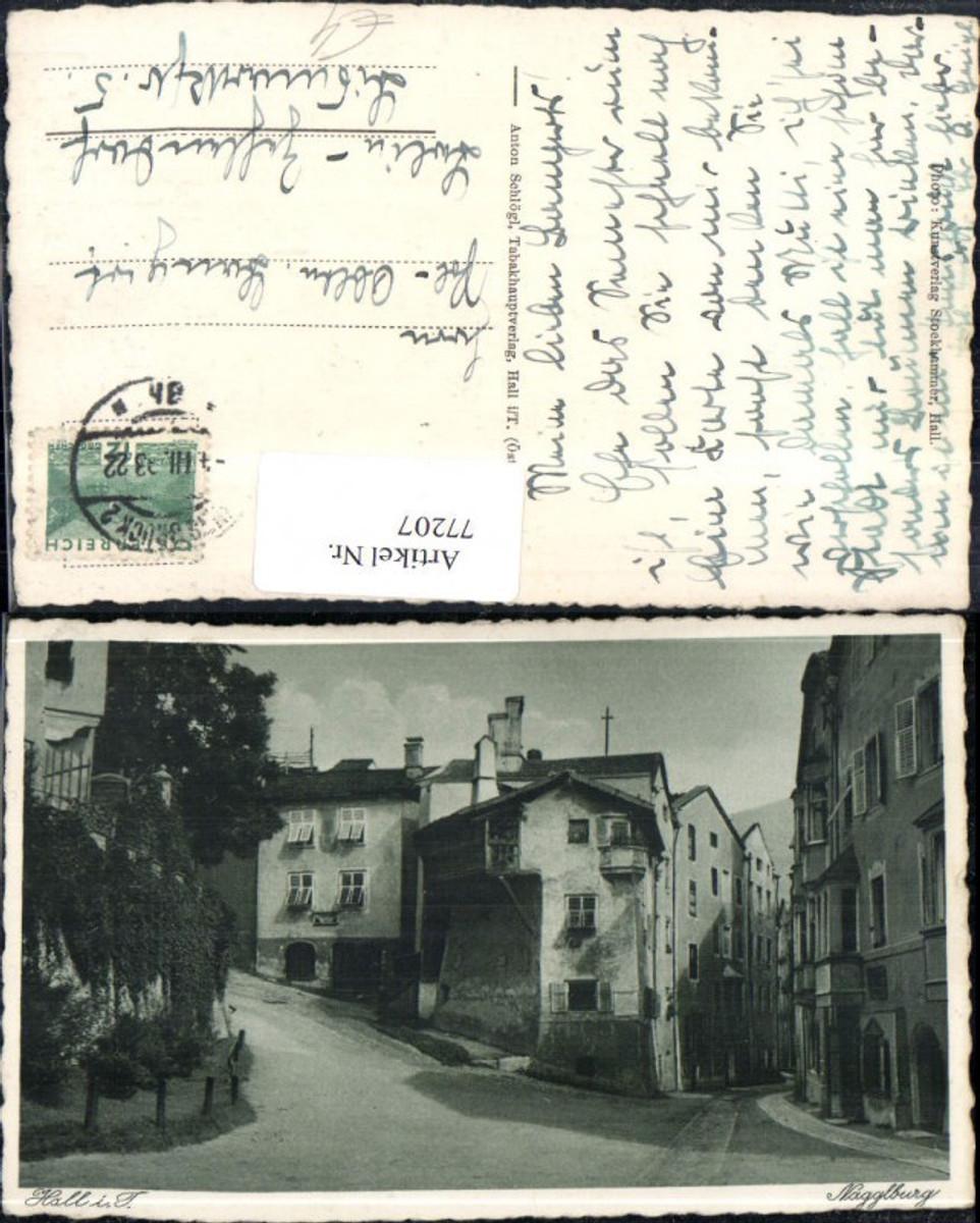 77207,Hall i. Tirol Nagglburg Strassenansicht 1933 günstig online kaufen