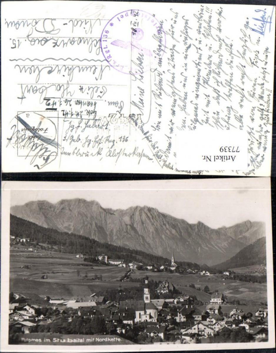 77339,Fulpmes im Stubaital Totale 1942 Feldpost  günstig online kaufen