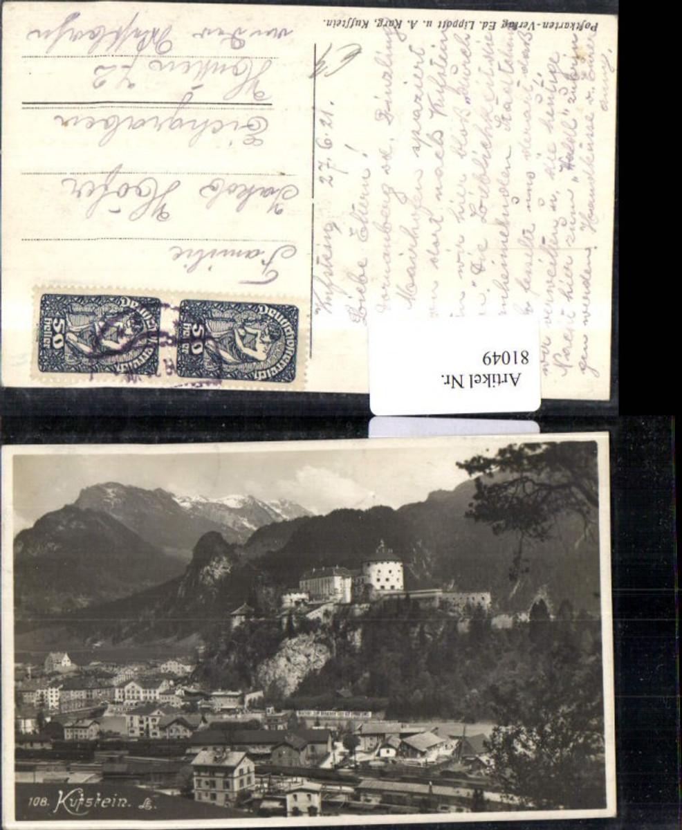 81049,Kufstein Totale mit Burg 1921 günstig online kaufen