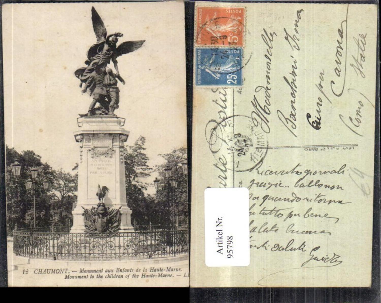 95798,Chaumont Monument aux Enfants de la Haute Marne Ansicht Statue 1923 günstig online kaufen