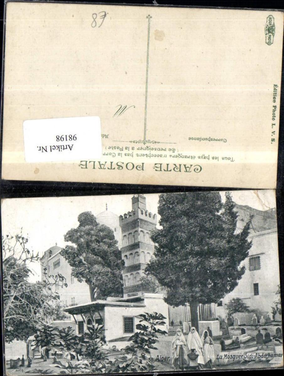 98198,Alger Algier La Mosquee Sidi Abderhamar Platzansicht Frauen günstig online kaufen