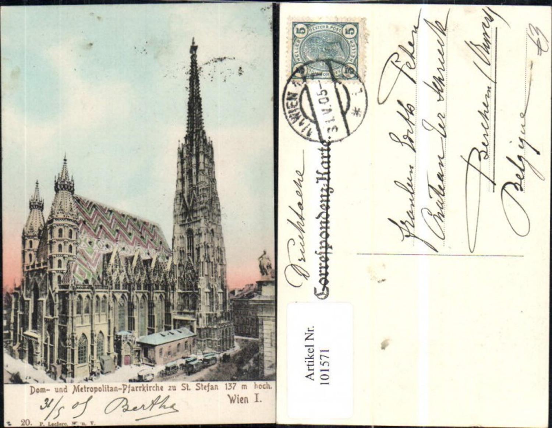 101571,Wien 1 Dom u. Metropolitan-Pfarrkirche St Stefan 1905 günstig online kaufen