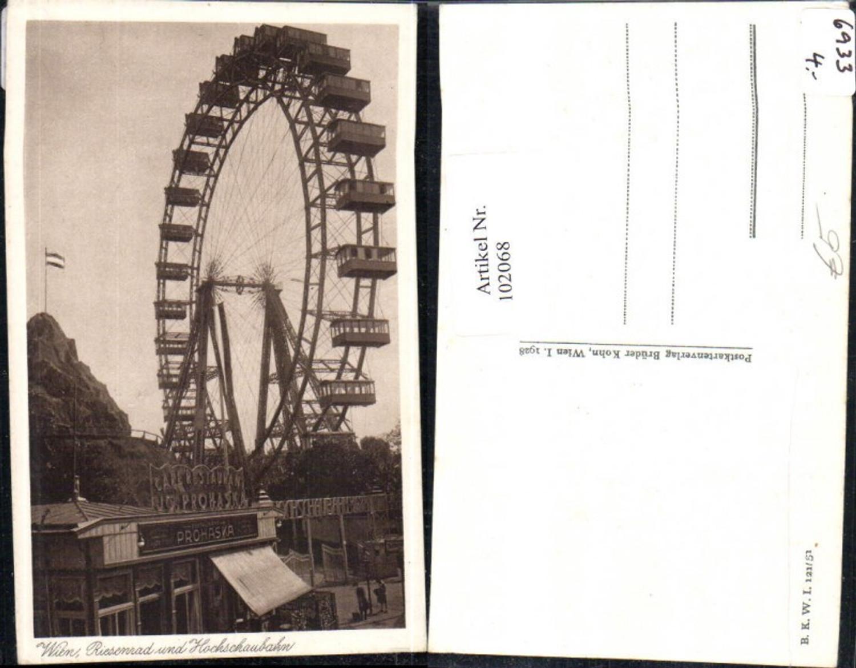 102068,Wien Leopoldstadt Riesenrad u. Hochschaubahn  günstig online kaufen