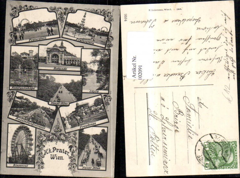102091,Wien Leopoldstadt MehrbildAk Prater 1908 günstig online kaufen