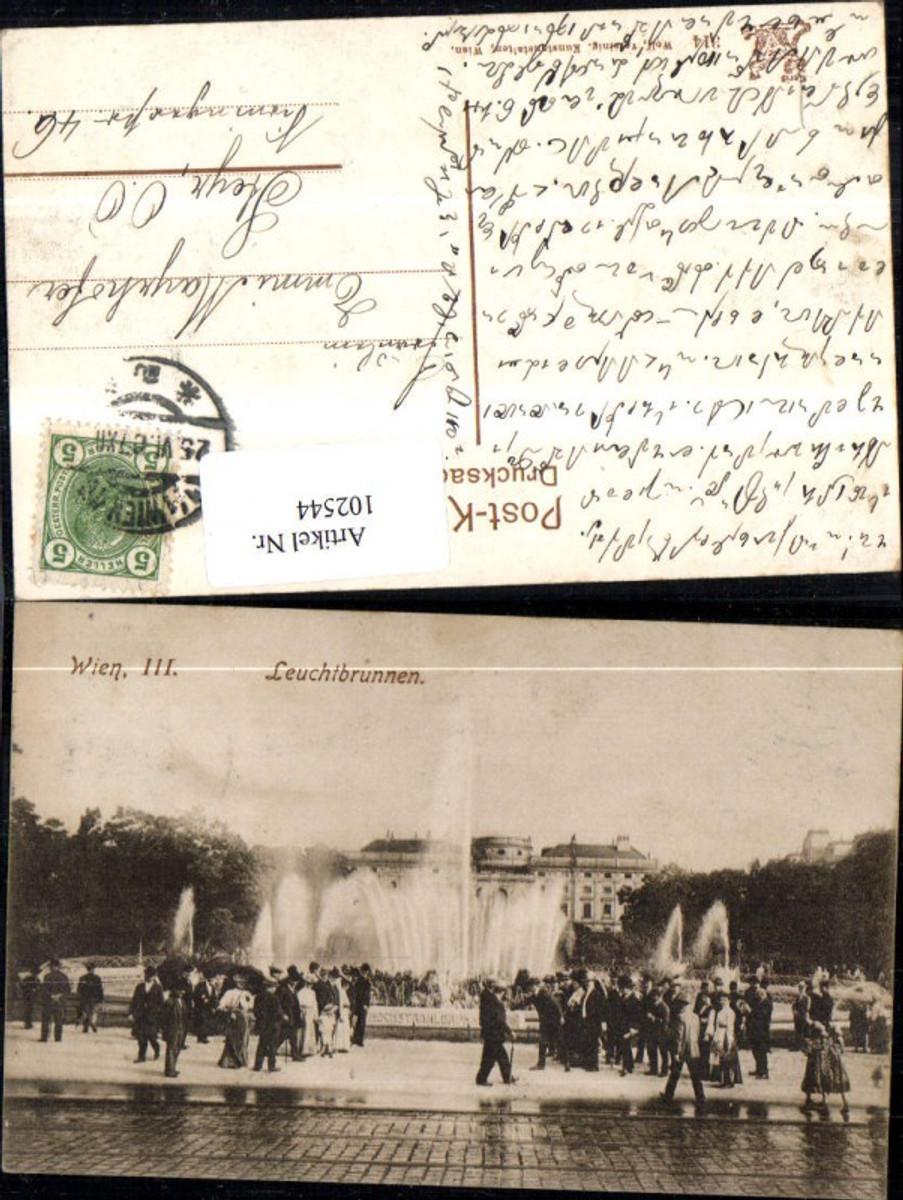 102544,Wien Landstrasse Leuchtbrunnen 1907 günstig online kaufen