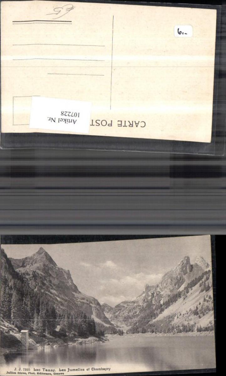 107228,Lac Tanay Les Jumelles et Champery Seeansicht Kanton Wallis günstig online kaufen