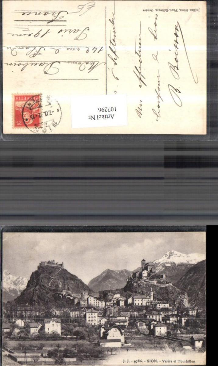 107296,Sion Valere et Tourbillon Totale Festung 1922 Kanton Wallis günstig online kaufen