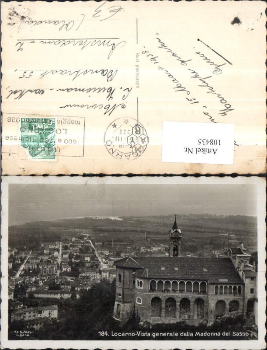 108435,Locarno Vista generale dalla Madonna del Sasso Totale 1936 Kanton Tessin  günstig online kaufen