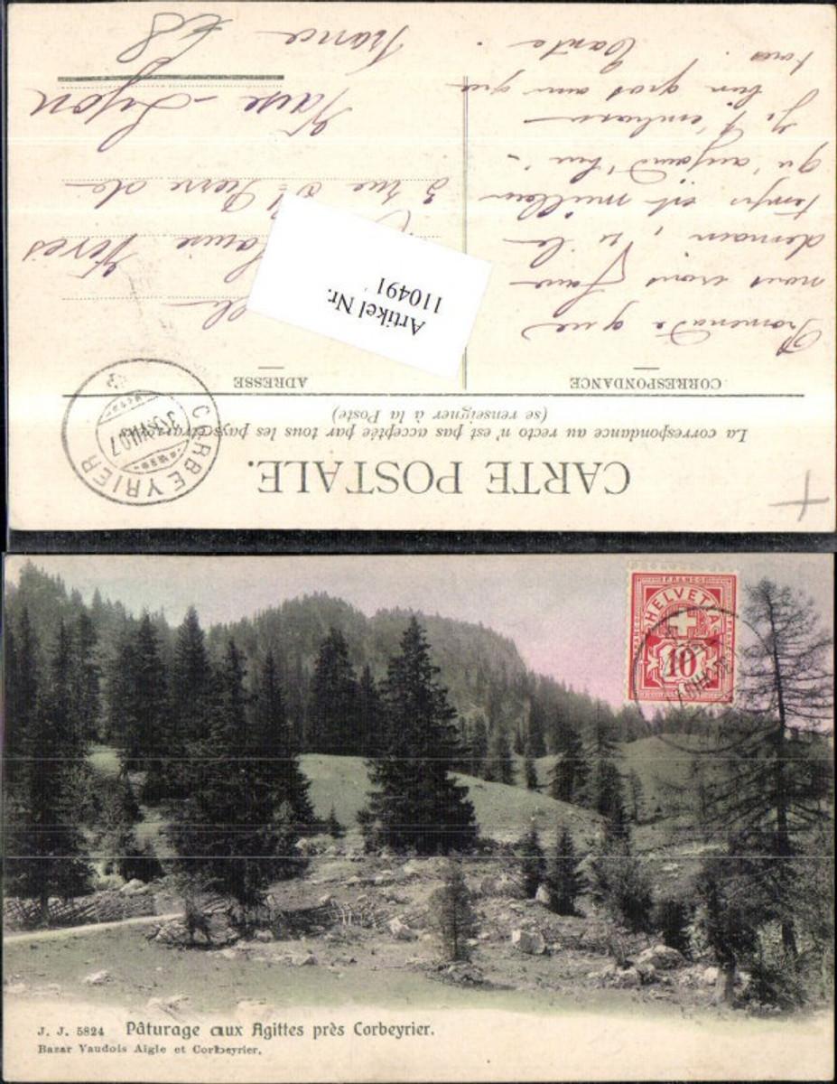 110491,Paturage aux Agittes pres Corbeyrier 1907 Kanton Waadt günstig online kaufen