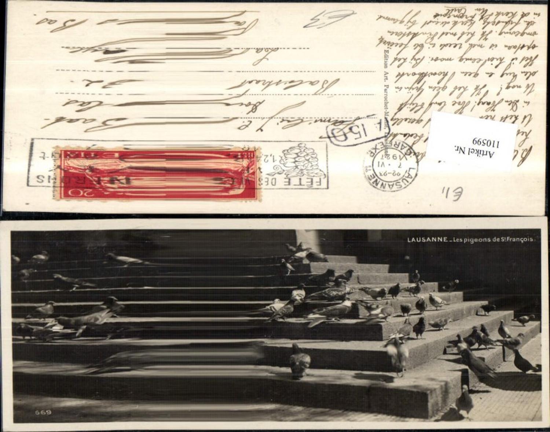 110599,Lausanne Les pigeons de St Francois Tauben 1927 Kanton Waadt günstig online kaufen