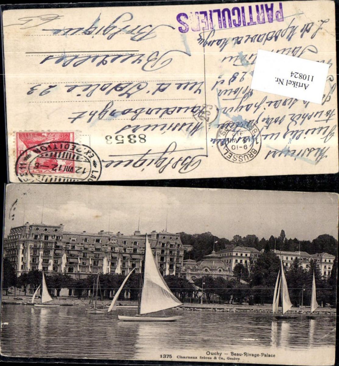 110824,Ouchy Beau Rivage Palace Segelboot 1912 Kanton Waadt günstig online kaufen